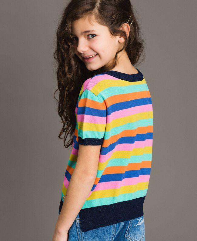 Multicolour striped cotton jumper Multicolour Striping Child 191GJ3070-03