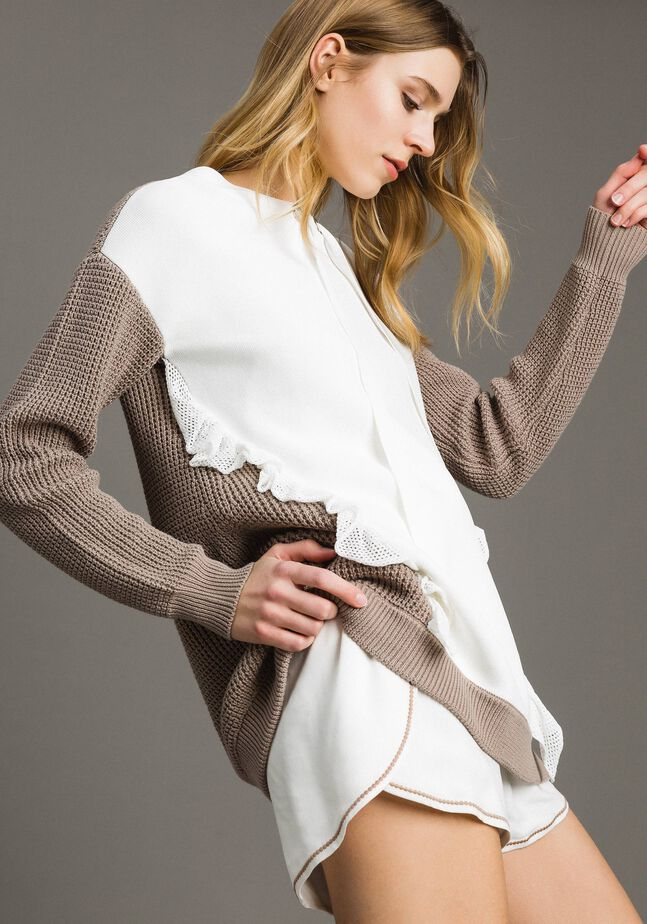 Pull oversize avec froufrous