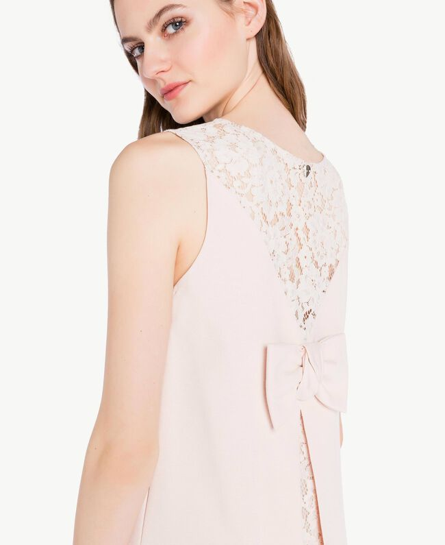 Lace dress Pale Ecru Woman PS828T-04