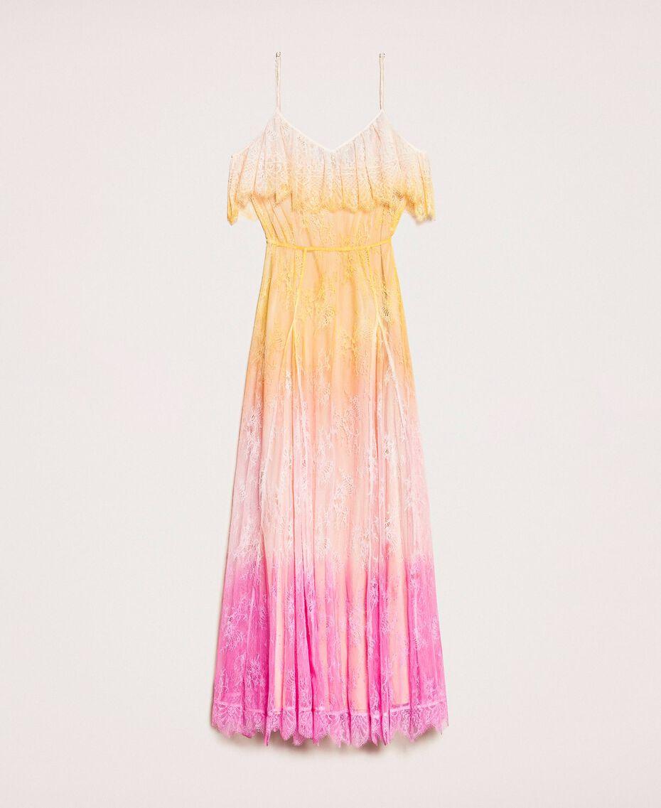 Robe longue en dentelle tie&dye Multicolore Tie Dye Rose Femme 201TT2282-0S