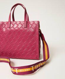 "Borsa shopper Twinset Bag media con logo Viola ""Red Plum"" Donna 202TB7161-04"
