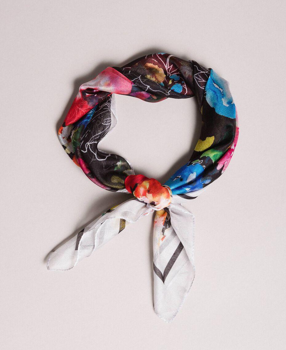 Sac à bandoulière en similicuir avec foulard Noir Femme 191MO8101-06