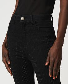 Jean skinny avec cristaux Noir Femme 211TT2320-05