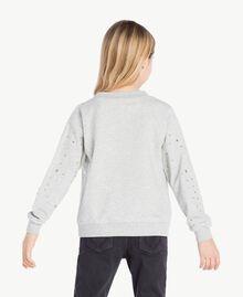 Sweat-shirt clous Gris clair chiné Enfant GS82G2-04