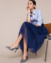 Animal print court shoes Lily Animal Print / Black Woman 201MCP01N-0S