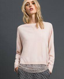 Kastiger Pullover mit Unterhemd Durchschnittgrau-Mélange Frau 192MP3101-01