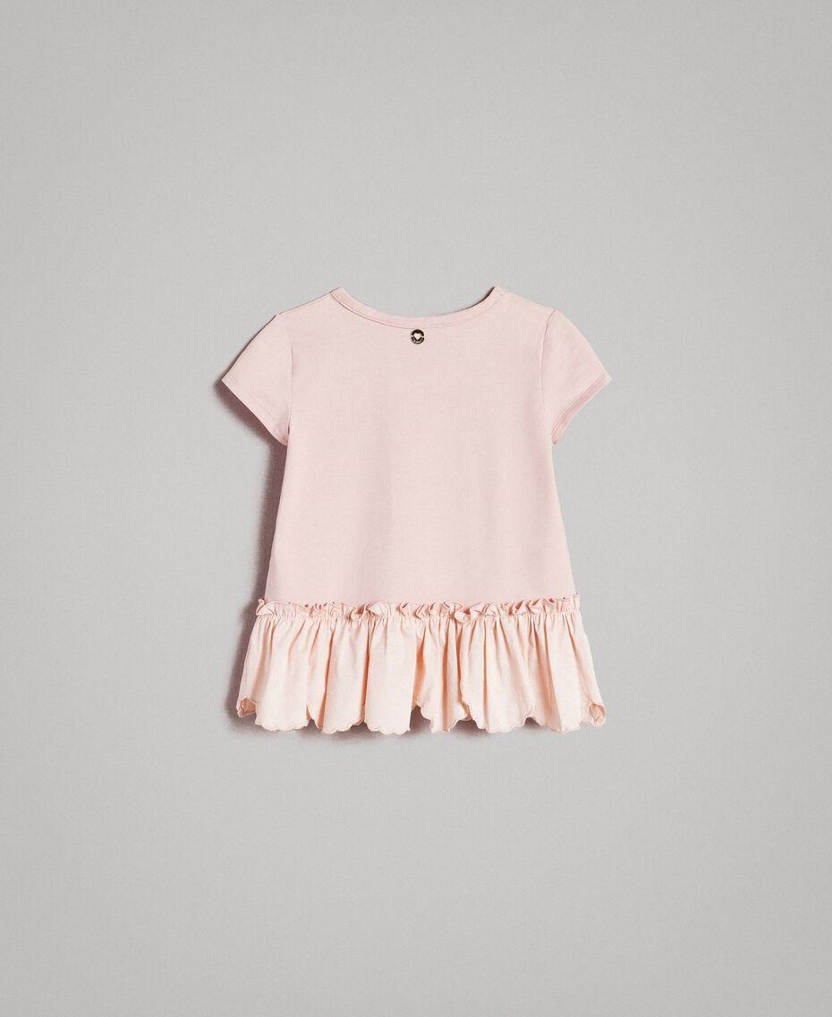 T-shirt en jersey avec imprimé Rose En fleur Enfant 191GB2193-0S