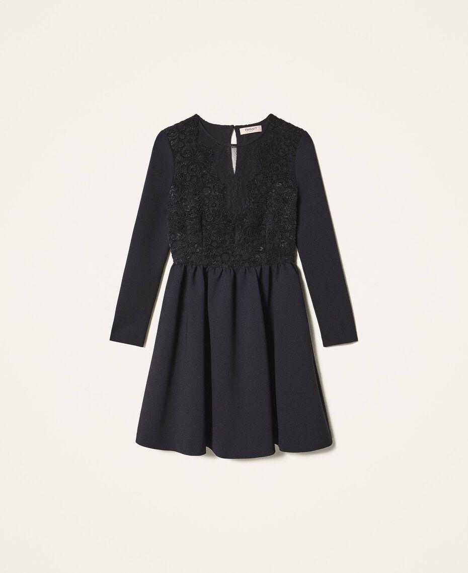 Kleid mit Spitze Schwarz Frau 202TT2285-0S