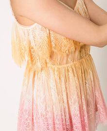 Tie-dye lace top Multicolour Tie Dye Pink Woman 201TT2280-04