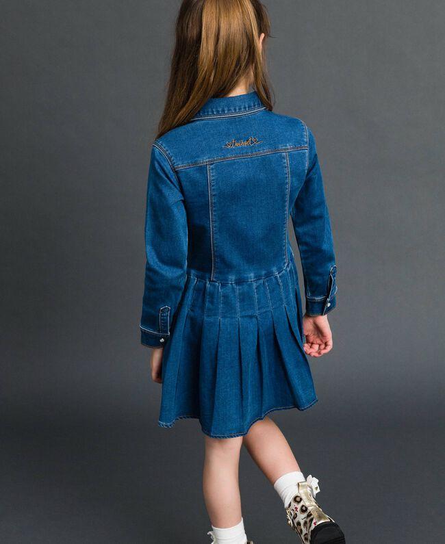 Denim effect shirt dress Mid Denim Child 192GJ2510-03