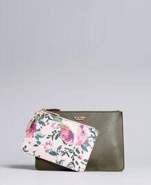 Deux pochettes en similicuir Bicolore Vert / Rose Femme VA8PGP-02