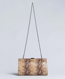 Pochette in pelle animalier Stampa Camel Snake Donna AA8PMA-03