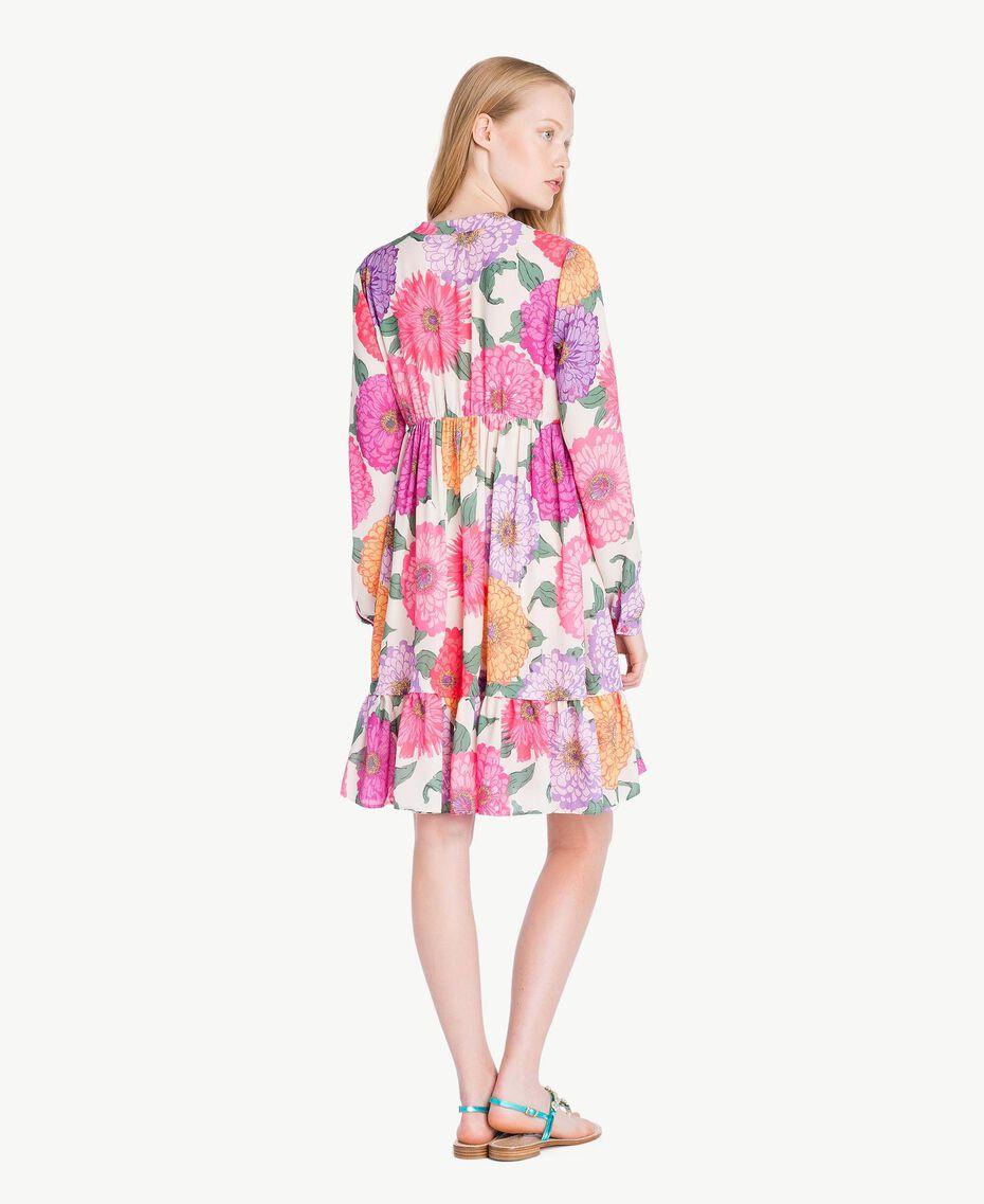 Kleid mit Blumenprint Makropfingstrosen-Print Frau NS82AB-03