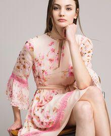 """Abito in georgette a fiori Stampa Rosa """"Bocciolo / Peach Mix"""" Donna 191TP2716-01"""