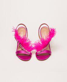 Sandales en satin avec plumes Rose «Jazz» Femme 999TCP032-05