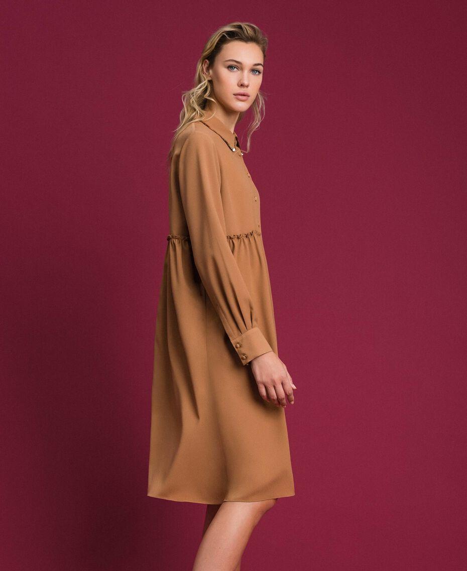 "Sequin shirt dress ""Sequoia"" Beige Woman 192ST209C-02"
