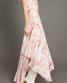"""Maxirock aus Georgette mit Blumenmuster Motiv """"Blossom / Peach Mix"""" Pink Frau 191TP2719-03"""