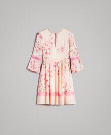 """Robe en georgette à imprimé floral Imprimé Rose """"Bouton De Rose / Peach Mix"""" Femme 191TP2716-0S"""