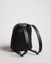 Faux leather backpack with patch and studs Black Woman 191MA7073-04