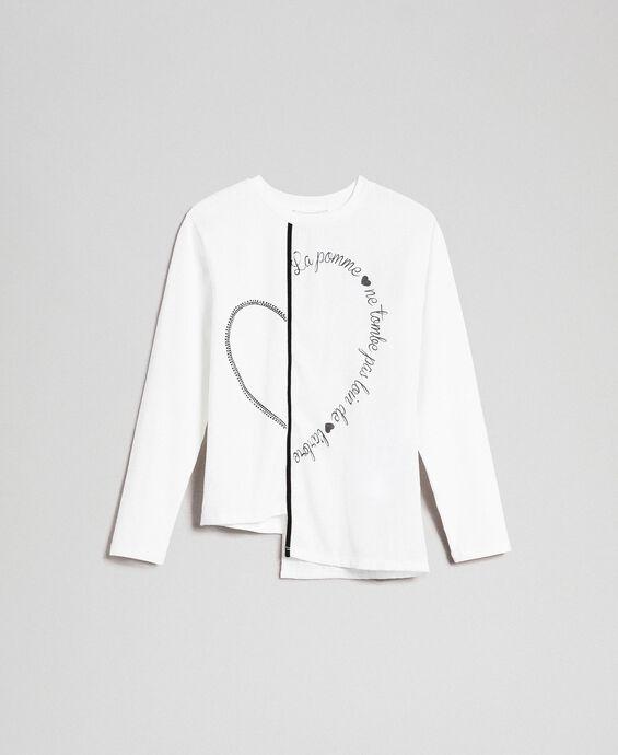 T-shirt asymétrique avec imprimé