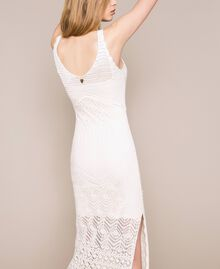 Long dress with crochet details and embroideries White Snow Woman 201TT3150-04