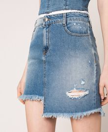 Minigonna in jeans asimmetrica Denim Blue Donna 201MT2347-04