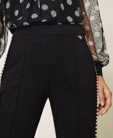 Pantalón con bordado de cuentas Negro Mujer 202TT2T52-05