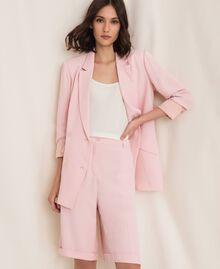 "Georgette Bermuda shorts ""Peachskin"" Pink Woman 201LL2NDD-01"