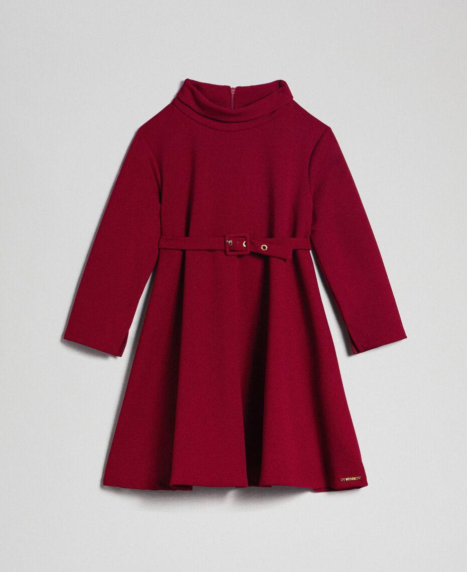 Abito in crêpe con cintura Rosso Ruby Wine Bambina 192GJ2452-0S