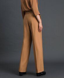 Pantalon en laine technique Camel Femme 192TT2452-03
