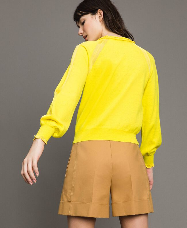 Cashmere mix top Yellow Woman 191TP3060-03