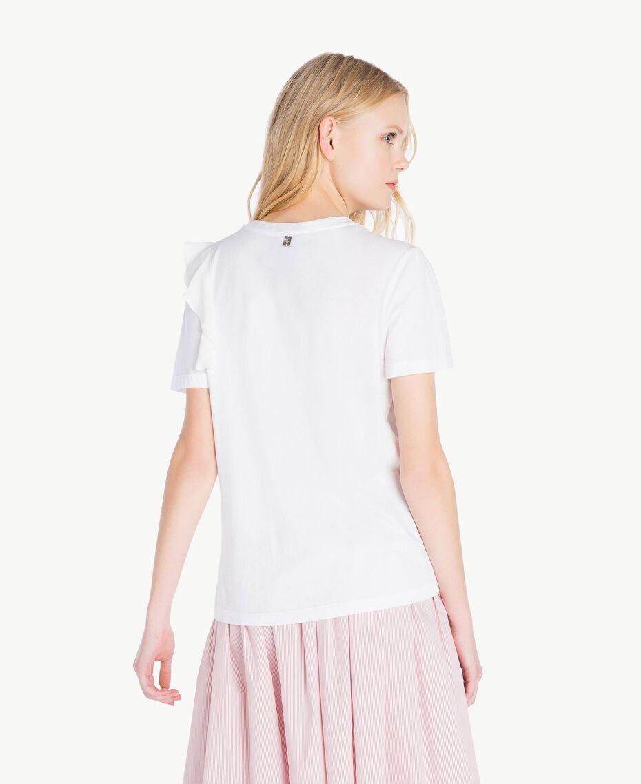 T-Shirt mit Stickerei Weiß Frau JS82RK-03