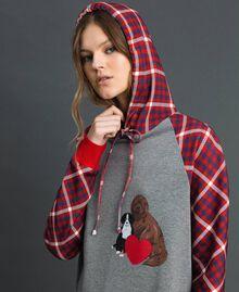 'Tury x Twinset' maxi sweatshirt White / Checks Woman 192LL21CC-04