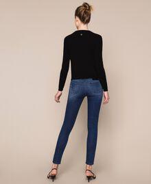 Push up jeans with studs Denim Blue Woman 201MP227J-05