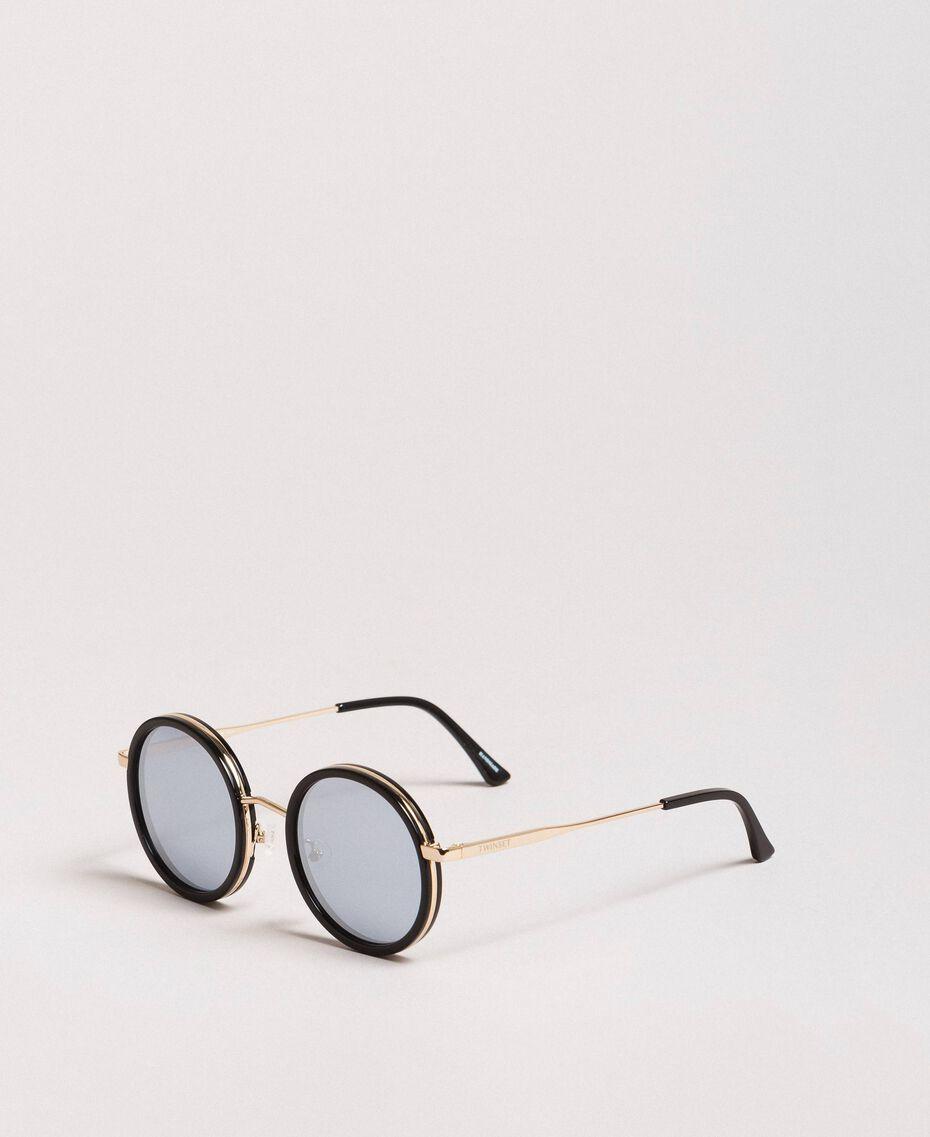 Round sunglasses Black Woman 999TZ4011-01