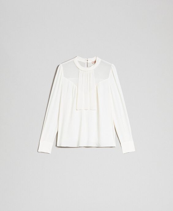 Crêpe de Chine and georgette blouse