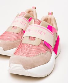 """Running shoes with logo Two-tone """"Blossom"""" Pink / Fluo Fuchsia Woman 201TCP152-02"""