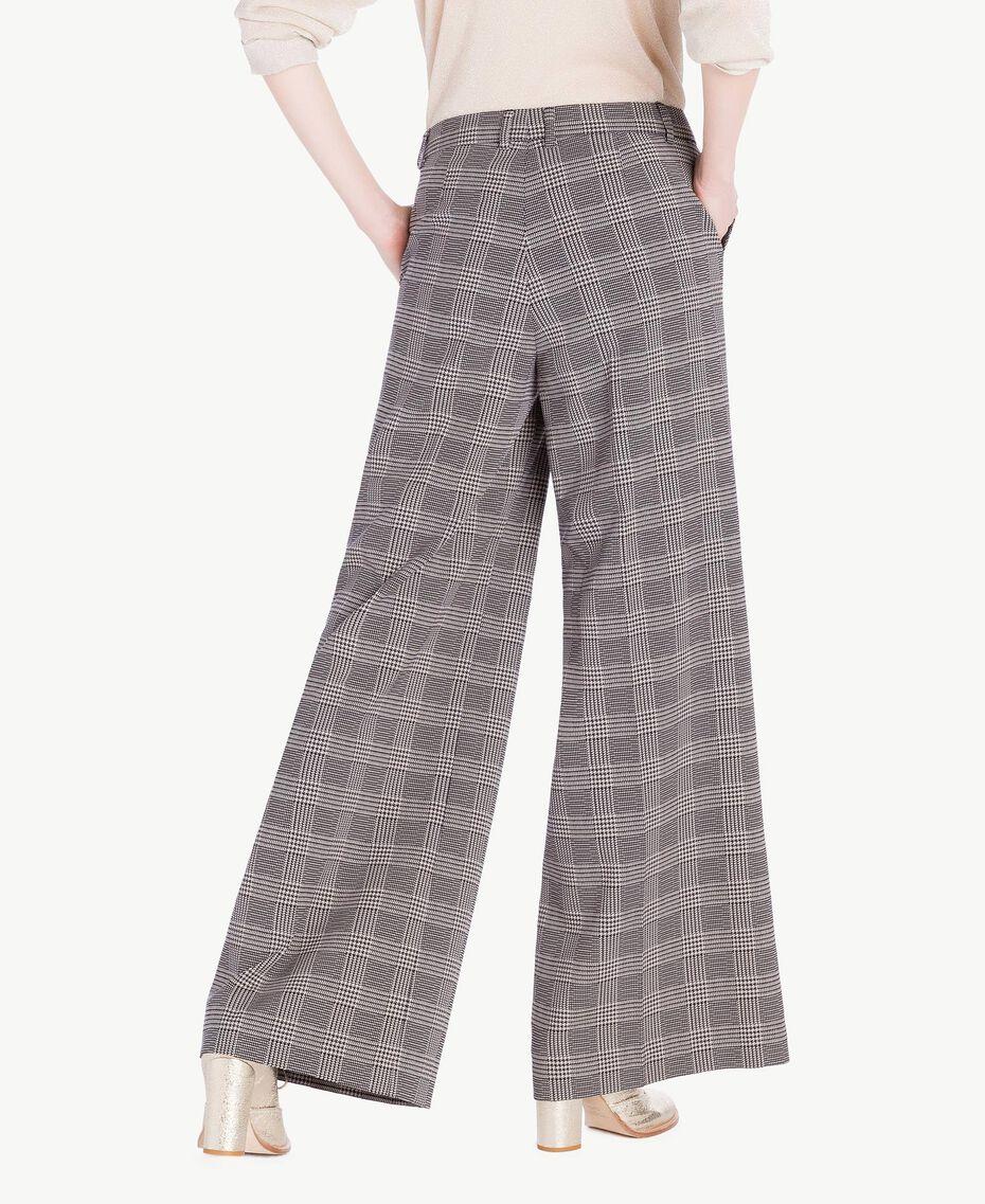 Pantalone palazzo check Jacquard Vichy Donna PS827Q-03