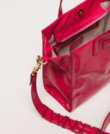Cabas moyen en cuir avec logo Rose «Jazz» Femme 201TO8091-05
