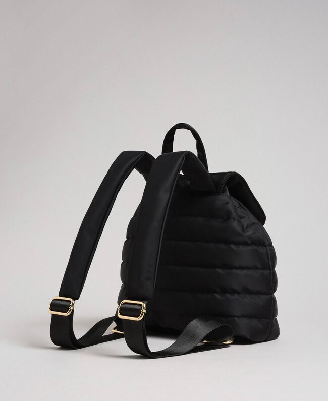 Sac à dos matelassé avec charms et logo Noir Femme 192TO8062-03