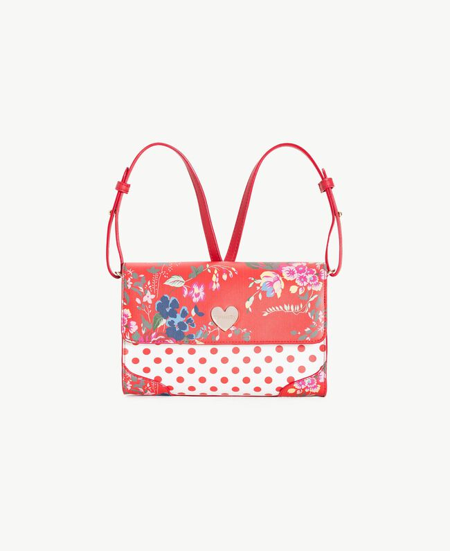 Printed backpack Flowers Print / Pomegranate Red Polka Dot Print Child GS87BK-01
