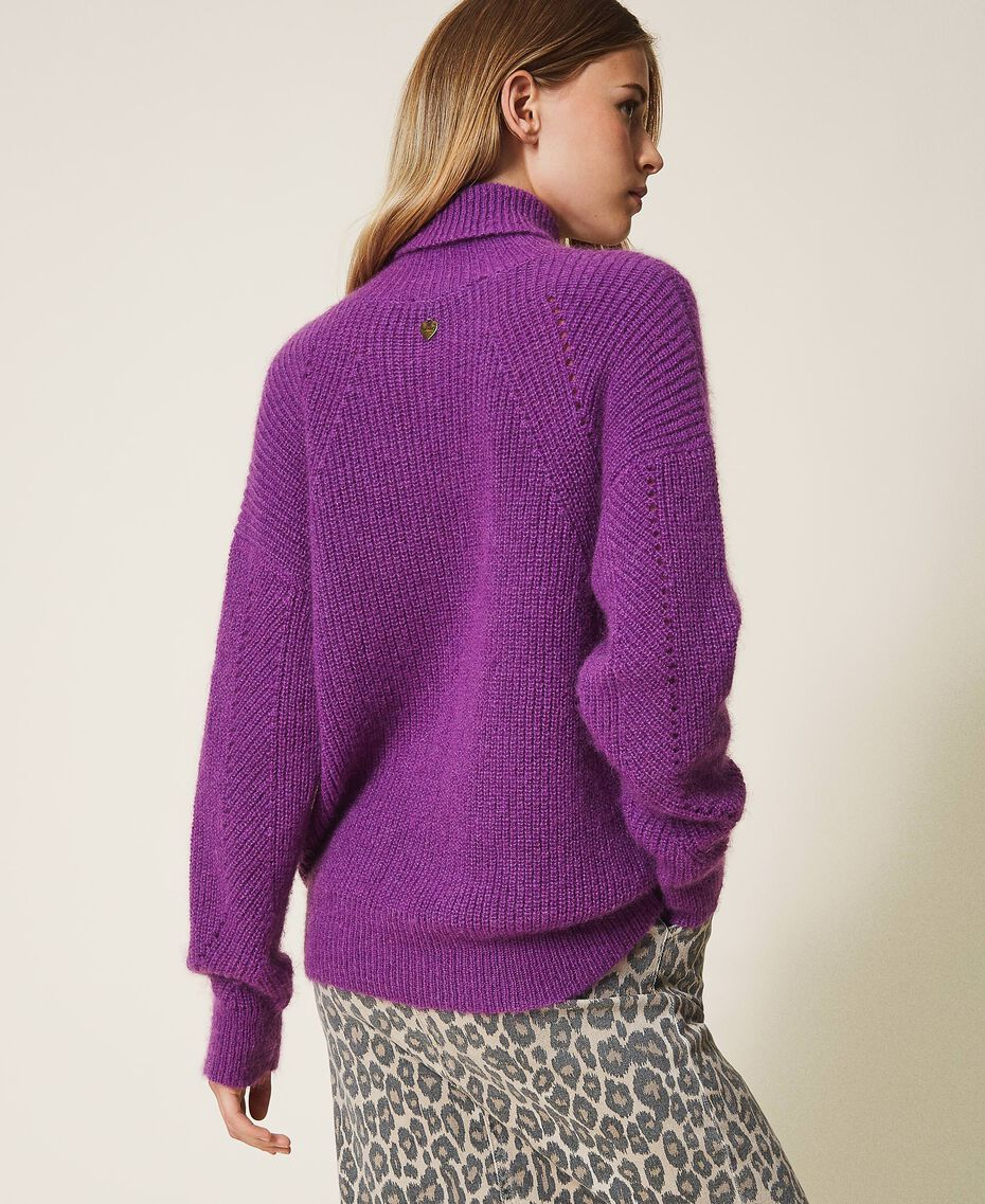 Maglia in misto mohair Shiny Purple Donna 202TT3261-03