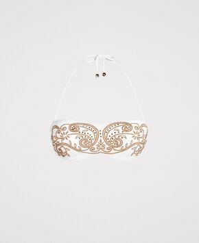 71b0e51972 Bandeau bikini top with embroideries and rhinestones ...