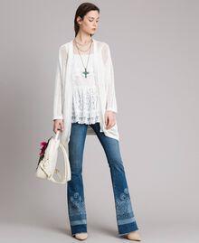 Топ с вышивкой и кружевом Off White женщина 191MT2271-0T