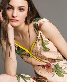 """Robe en crêpe de Chine à imprimé floral Imprimé Fleur Beige """"Coquillage"""" Total Femme 191MT2211-04"""