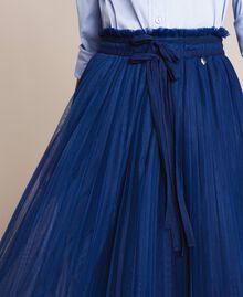 Юбка-миди из плиссированного тюля Синий Ультрамарин женщина 201MP2122-04