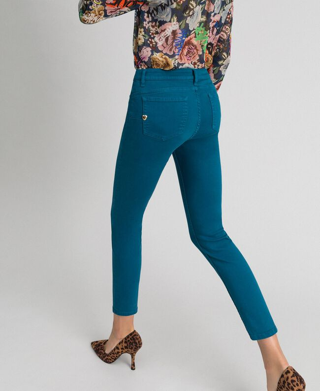 """Pantaloni skinny con cinque tasche Blu """"Lake"""" Donna 192MP2412-03"""
