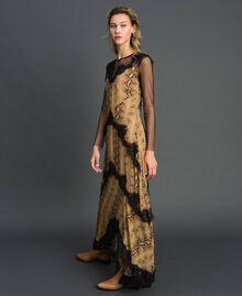 Robe longue en crêpe georgette à motif animalier Imprimé Python Camel Femme 192TT2271-02
