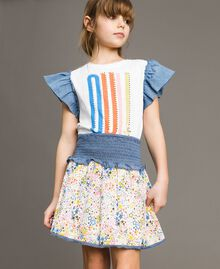 Gonna-top in mussola con stampa Stampa Stelline Bambina 191GJ2532-0S