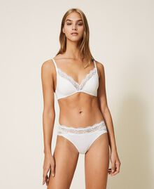 Padded lace triangle bra Ivory Woman 202LL6D22-01